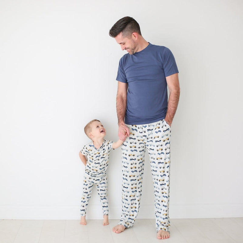 Daddy with son wearing Enzo  loungewear & pajama