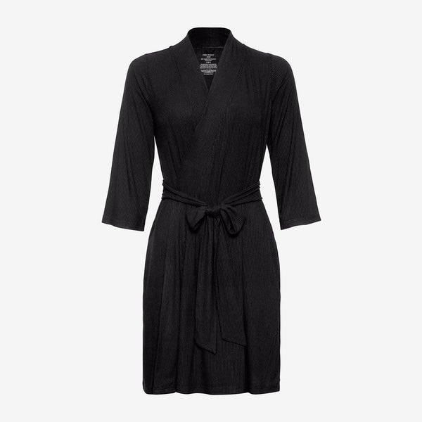Black Ribbed Robe