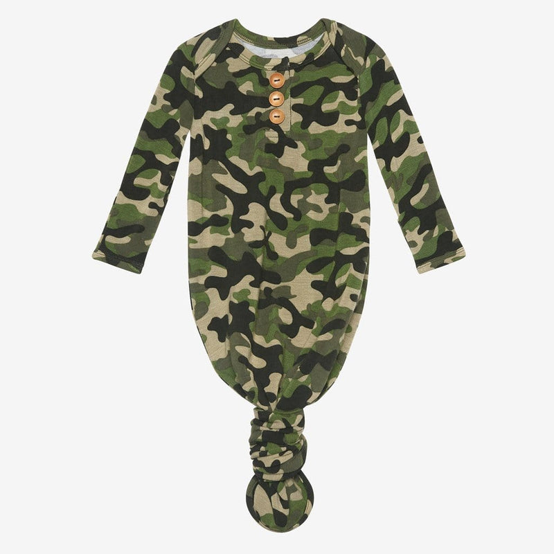 Cadet Button Knotted Gown
