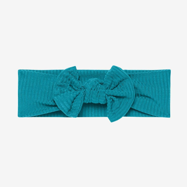 Cerulean Ribbed Headwrap