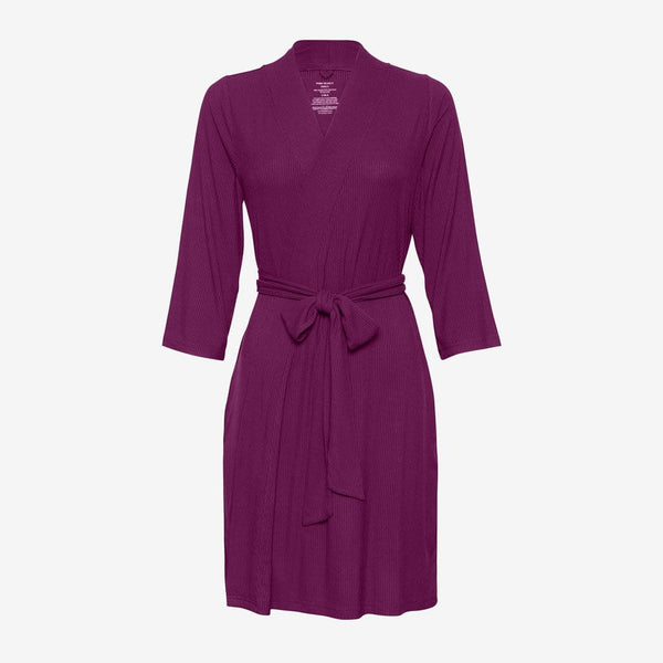 Orchid Ribbed Robe