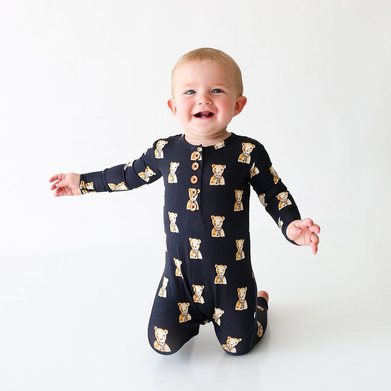 Baby on Fred Long Sleeve Henley Romper