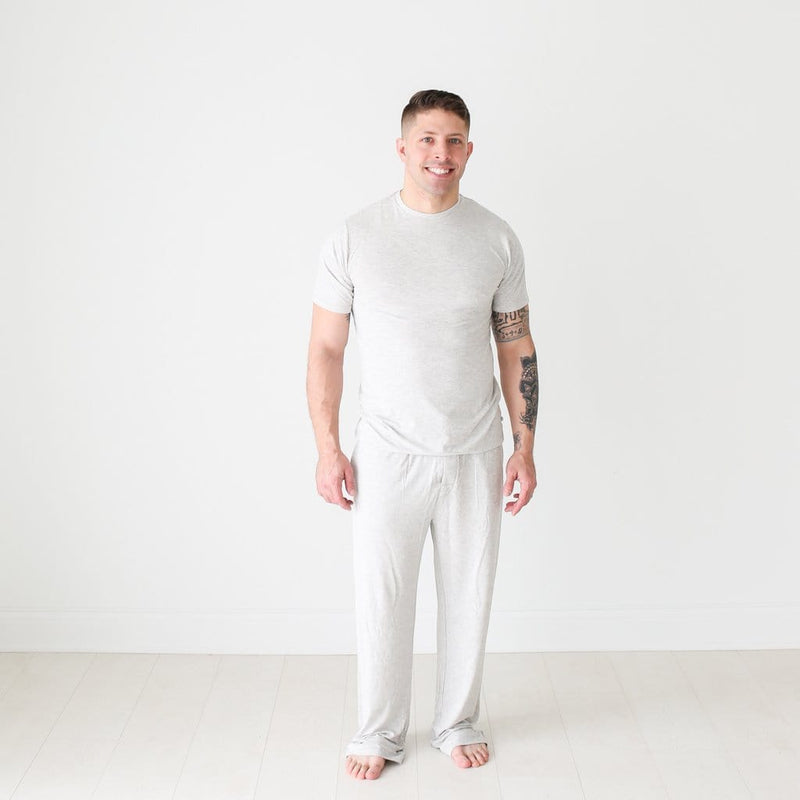 Athletic Gray Heather Men's Short Sleeve Loungewear