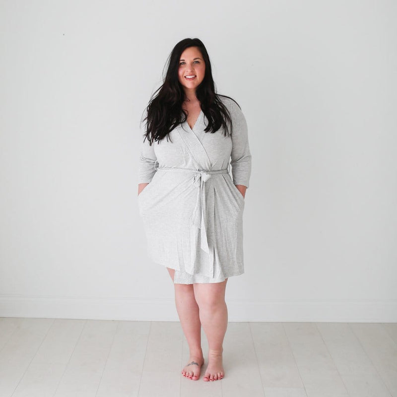 Athletic Gray Heather Robe