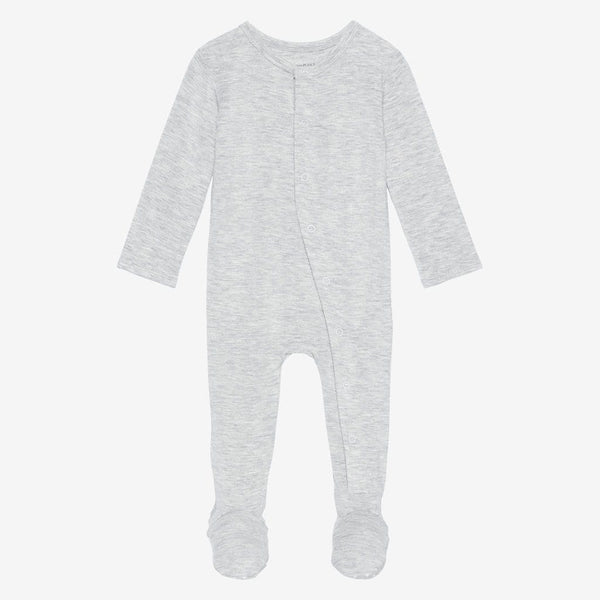 Athletic Gray Heather Footie Snap One Piece