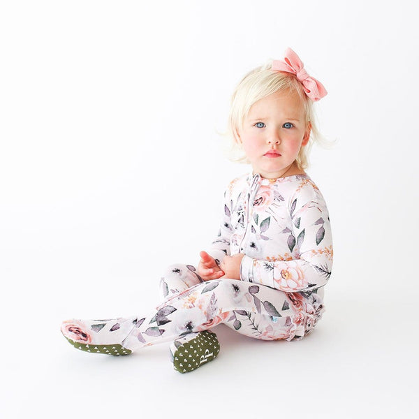Harlow Footie Ruffled Zippered One Piece