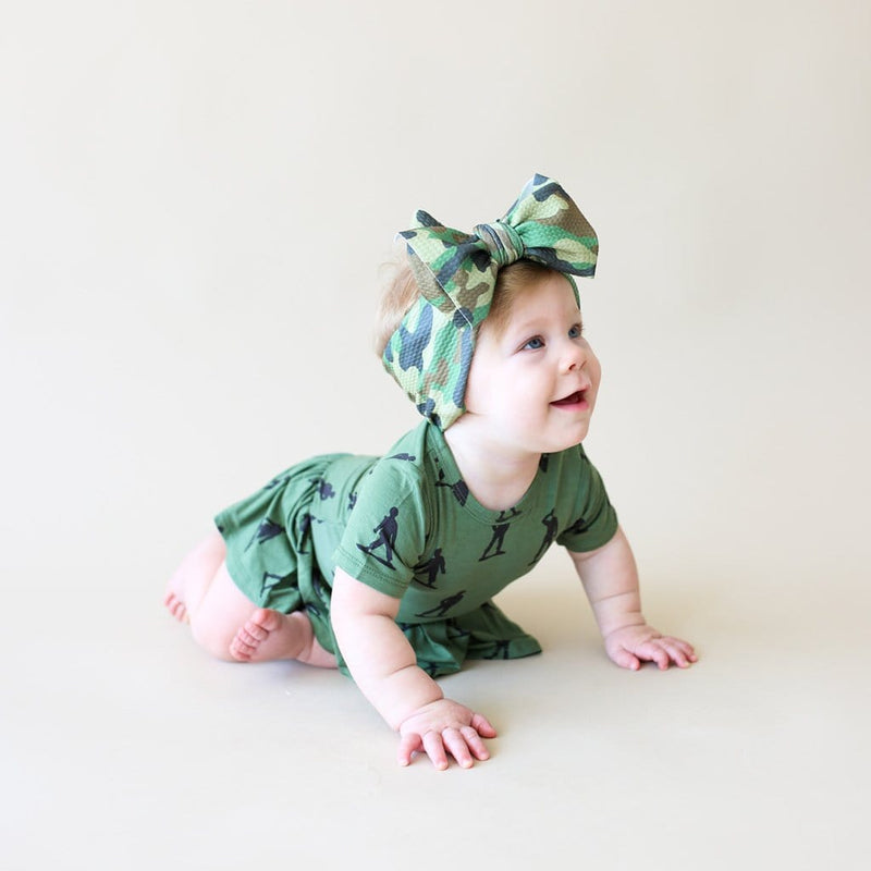 Crawling baby on Cadet Lulu Headwrap