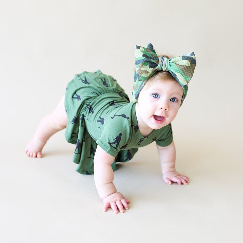 Baby on James short sleeve twirl skirt bodysuit