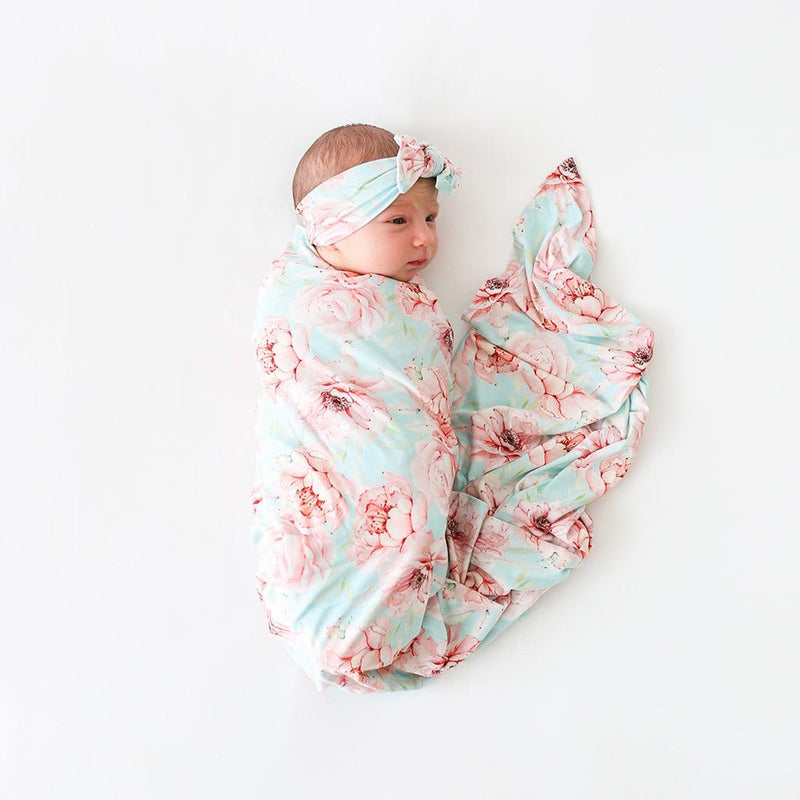 Baby on Kennedy Swaddle Headband Set