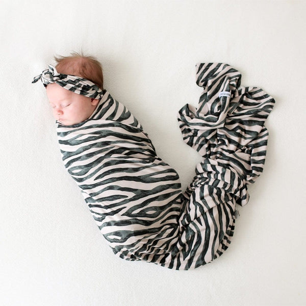 Baby on Koko Swaddle Headband Set