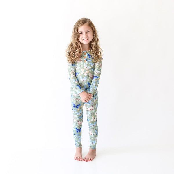 Lucy Long Sleeve Henley Pajamas