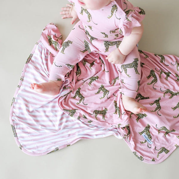 Baby on Mara & Dusty rose stripe patoo