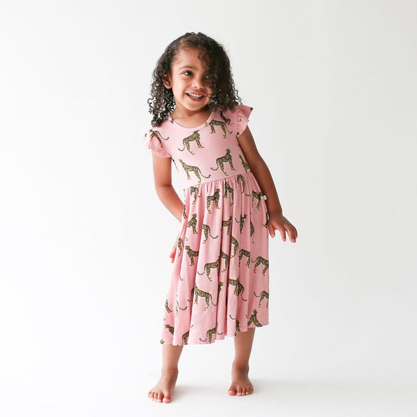 Toddler wearing Mara twirl dress
