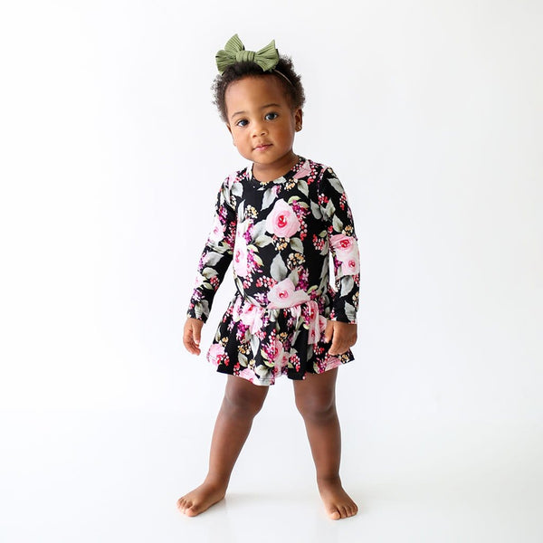 Milana Long Sleeve Twirl Skirt Bodysuit