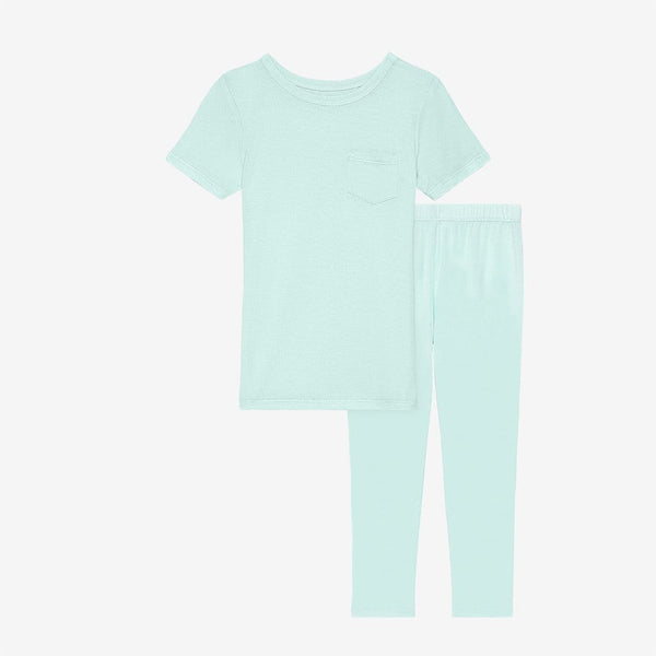 Mint short sleeve top and pajamas