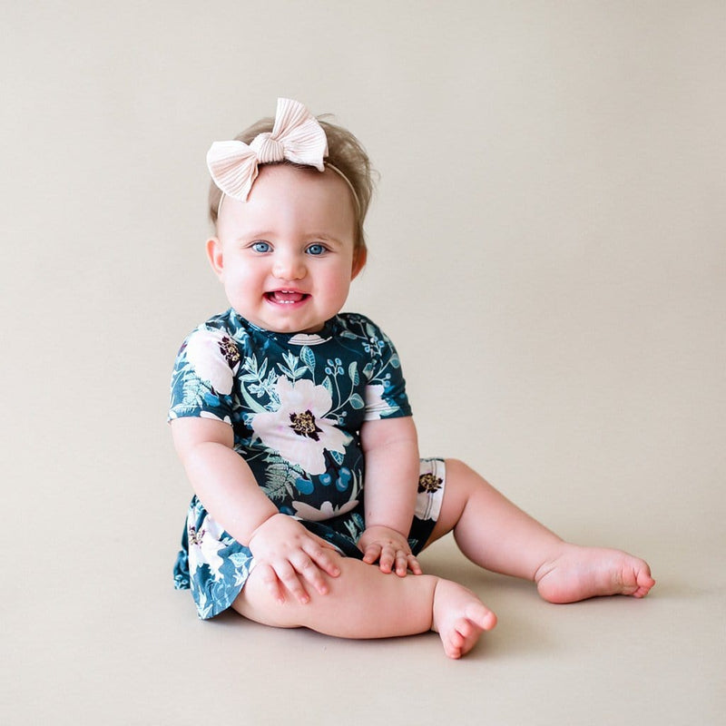 Baby on Payton short sleeve twirl skirt bodysuit