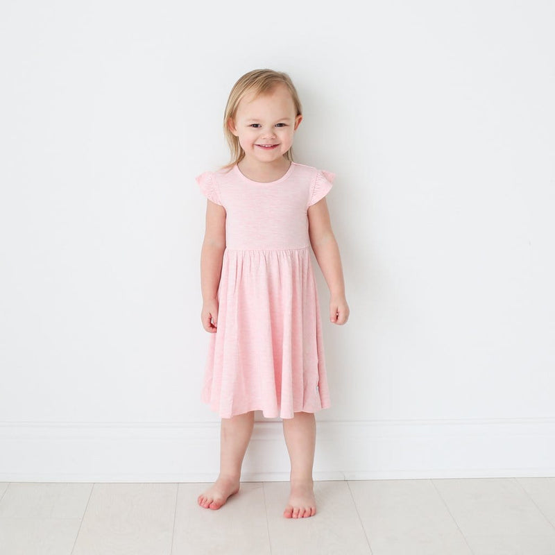 Pink Heather Twirl Dress