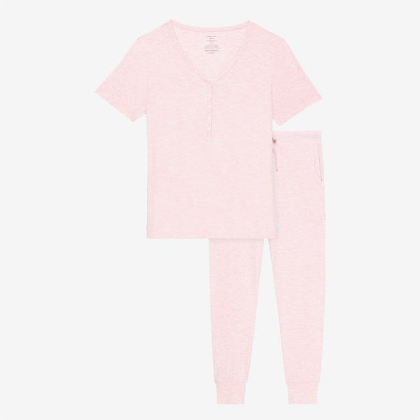 Pink Heather Women's Short Sleeve Loungewear