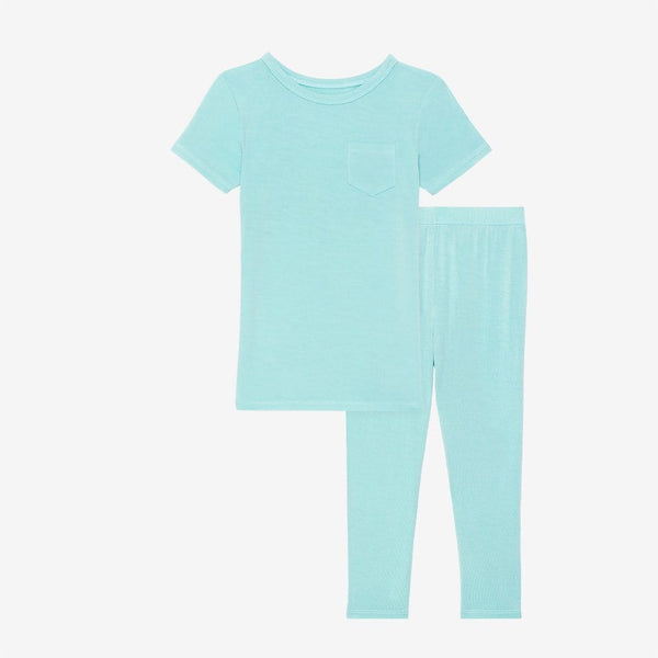 Pool blue short sleeve pajamas