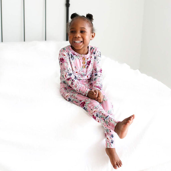 Rosalyn Long Sleeve Henley Pajamas