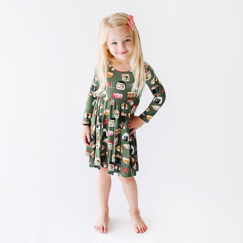 Sashimi Long Sleeve Twirl Dress