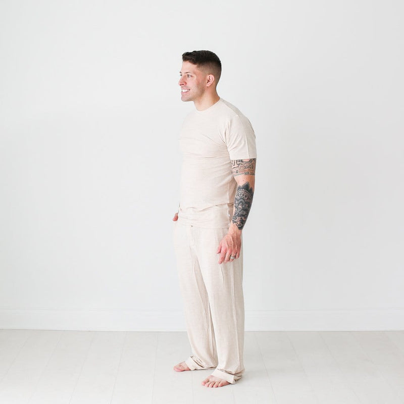 Tan Heather Men's Short Sleeve Loungewear