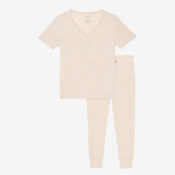 Tan Heather Women's Short Sleeve Loungewear