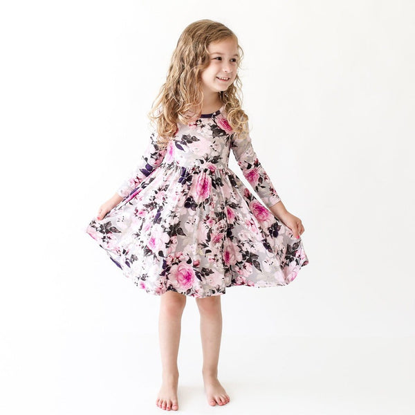 Baby wearing Tessa Long Sleeve Twirl Dress