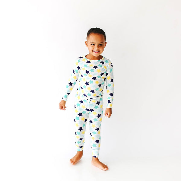 Boy toddler wearing Tommy Long Sleeve Pajamas