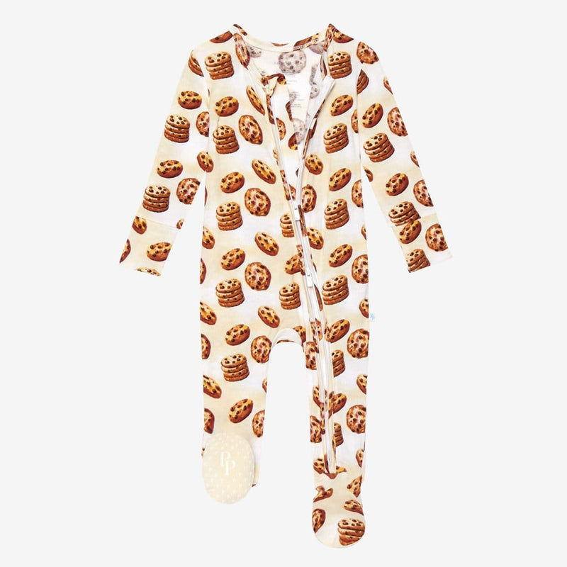 Chip Footie Open Zipper One Piece with cookie pattern
