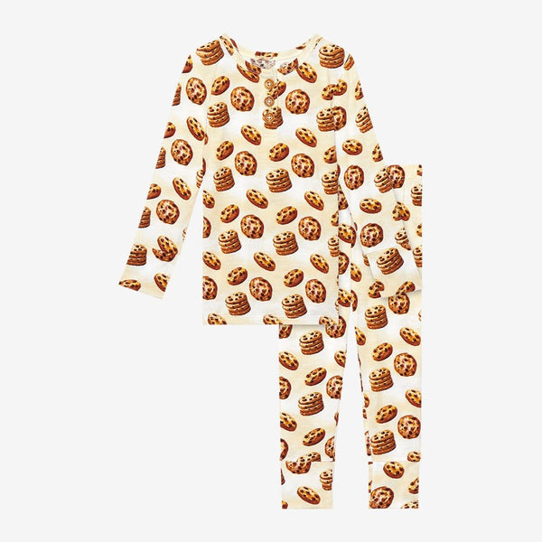 Chip Long Sleeve Henley Pajamas with cookie pattern