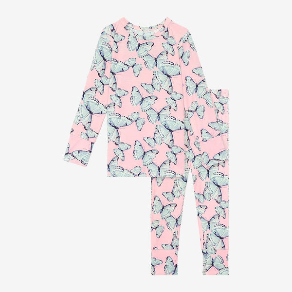 Beatrice Long Sleeve Pajamas with butterfly pattern