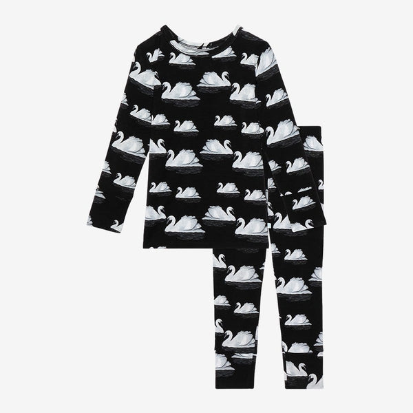 Leia Long Sleeve Pajamas with swan pattern