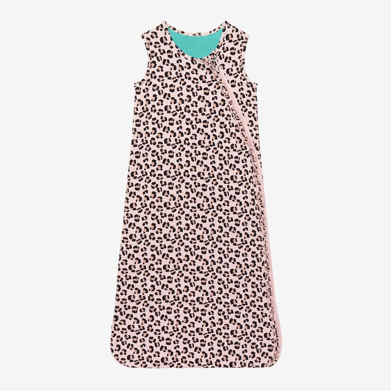 Samara Sleeveless Ruffled Sleep Bag 1.0 Tog with jaguar pattern