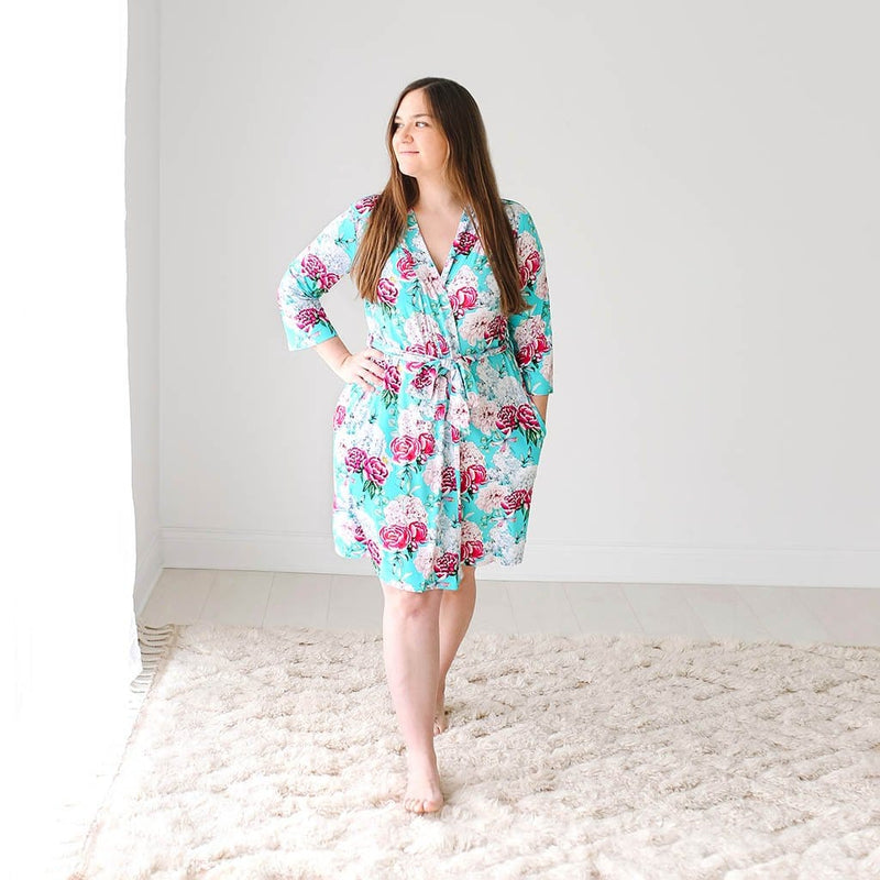 Mommy on Floral Eloise Robe