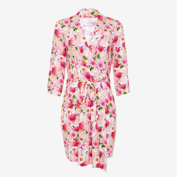 Marlene Robe with floral print