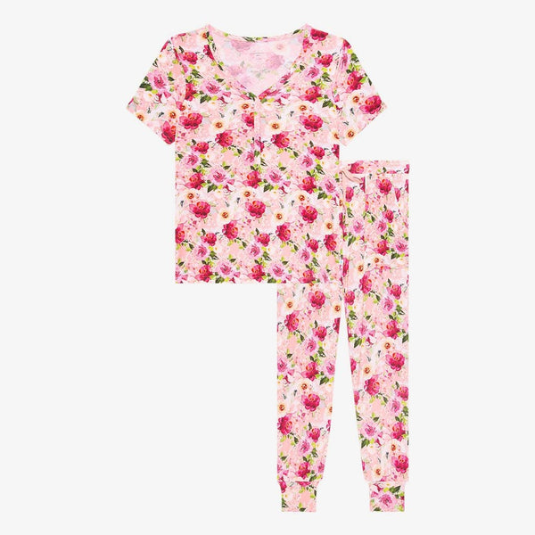 Marlene Women's Short Sleeve Loungewear with floral print