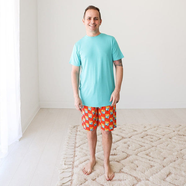 Daddy wearing Fry Men's Short Loungewear