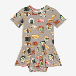 Sushi Mushi Short Sleeve Twirl Skirt Bodysuit