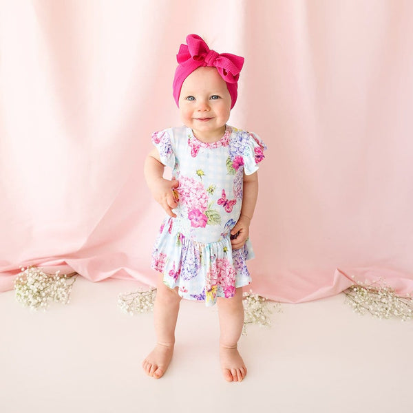 Baby on Nicolette Ruffled Cap Sleeve Twirl Skirt Bodysuit