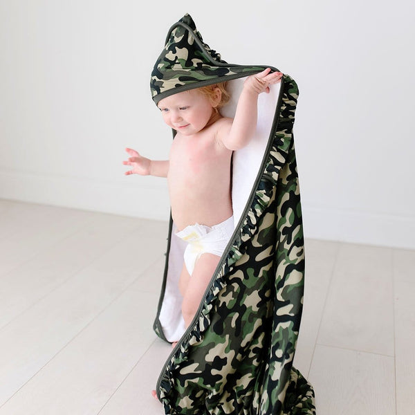 Cadet Ruffled Hooded Towel