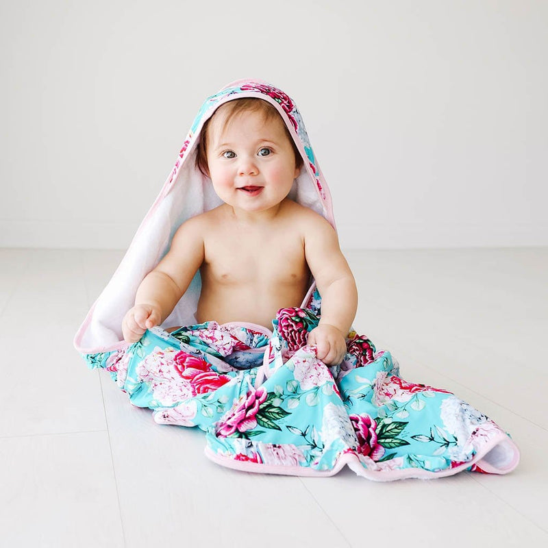 Baby on Eloise Ruffled Hooded Towel