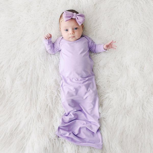 Baby wearing Amethyst Zippered Gown