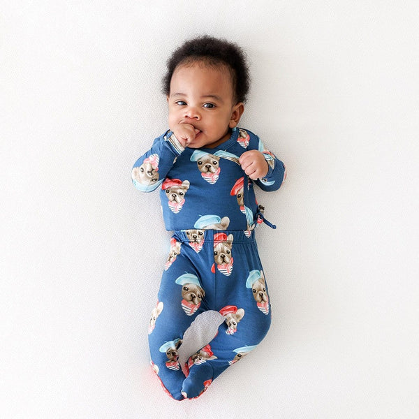 Baby on Frenchie Tie-Front Kimono Set