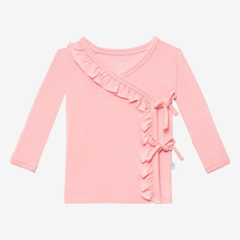 Cotton Candy Ruffled Tie-Front Tops