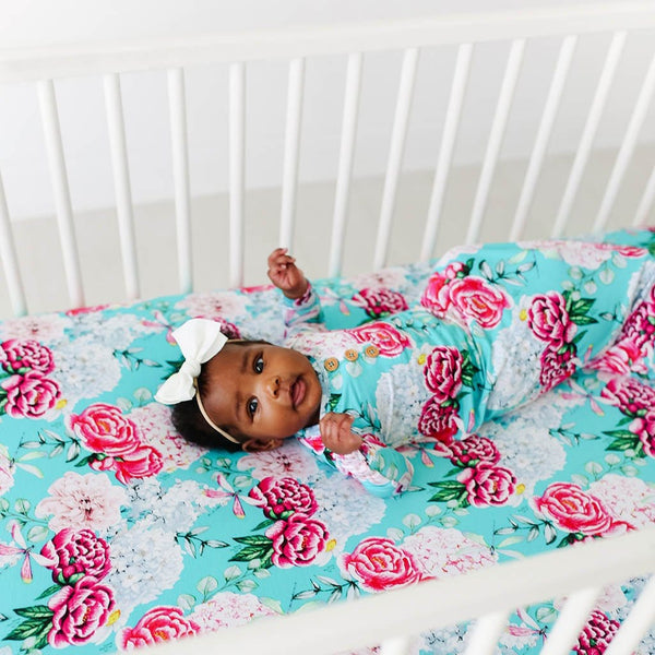 Baby on Eloise Crib Sheet