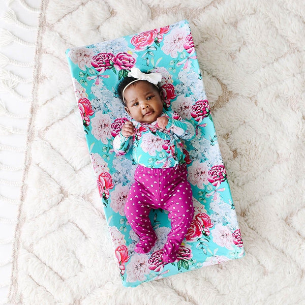 Baby on Floral Eloise Pad Cover