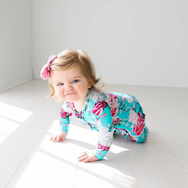Baby on Eloise Footie Ruffled Zippered One Piece