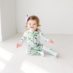 Baby on Erin Footie Ruffled Zippered One Piece