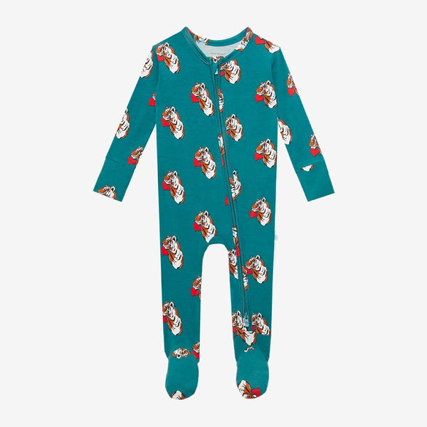 Jax Footie Zippered One Piece